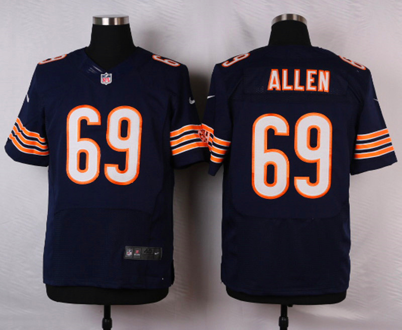 NFL Customize Chicago Bears 69 Allen Blue 2015 Nike Elite jersey