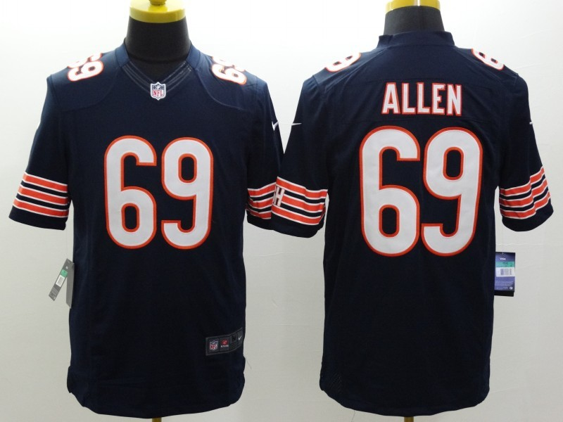 Chicago Bears 69 Allen Blue Nike Limited Jerseys