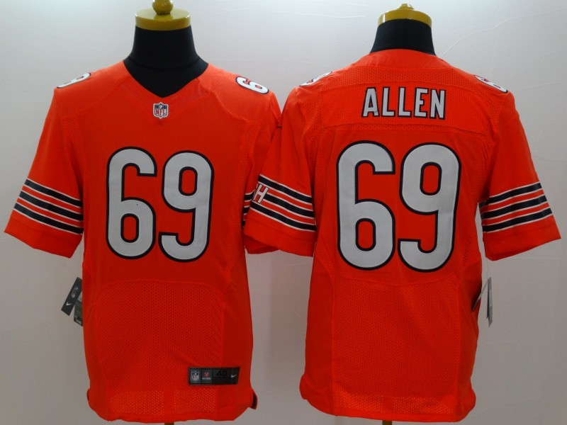 Chicago Bears 69 Allen Orange Nike Elite Jerseys