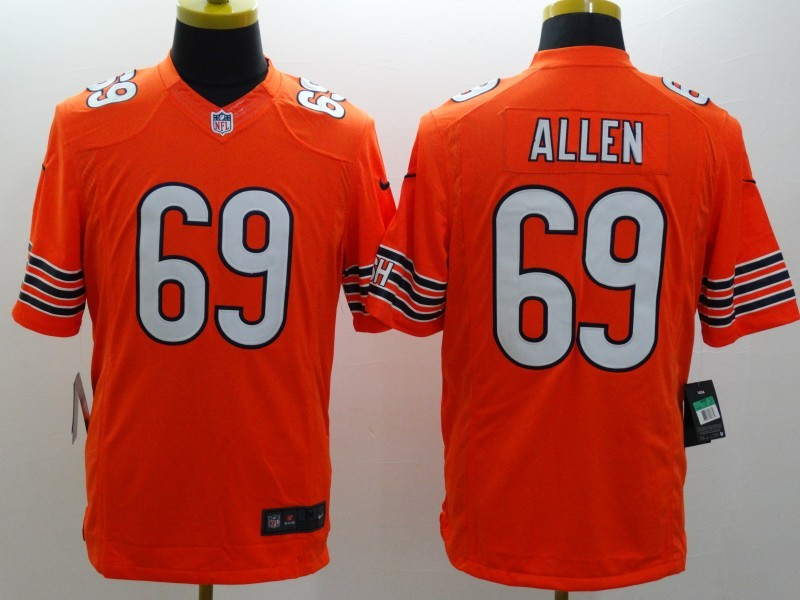 Chicago Bears 69 Allen Orange Nike Limited Jerseys