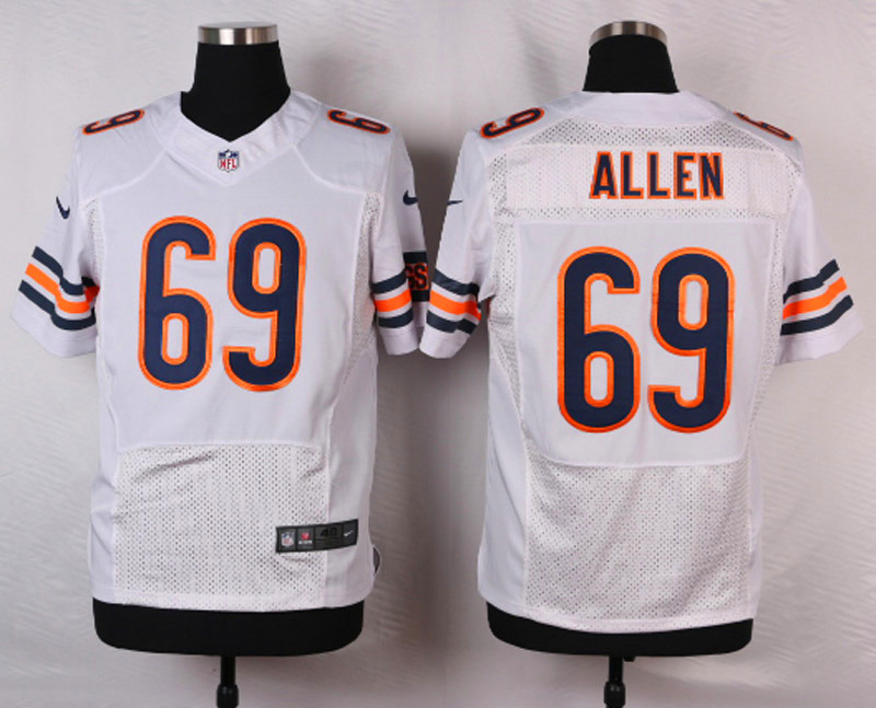 NFL Customize Chicago Bears 69 Allen White 2015 Nike Elite jersey