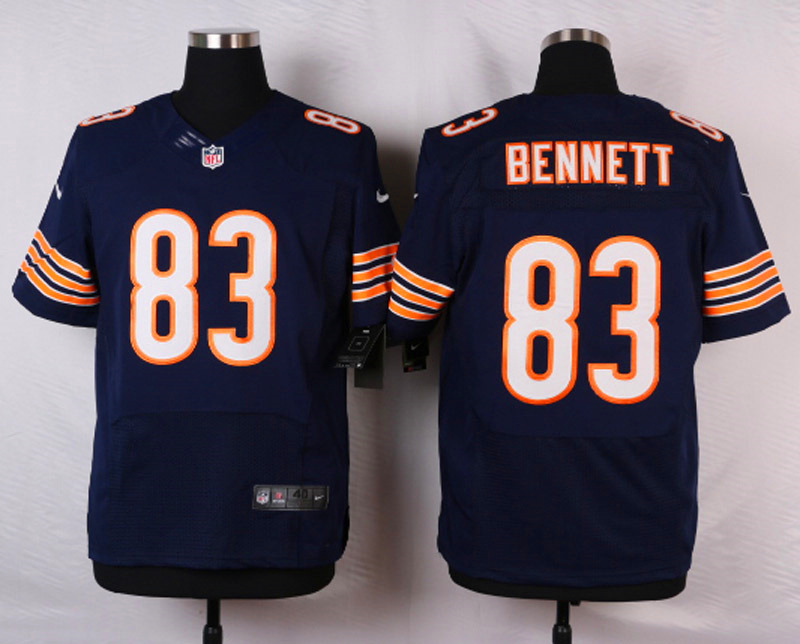 NFL Customize Chicago Bears 83 Bennett Blue Men Nike Elite Jerseys