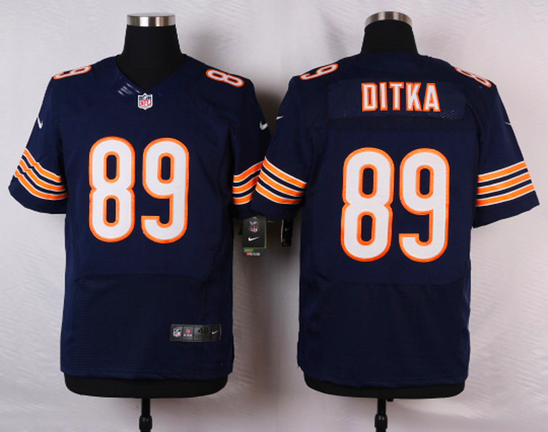 NFL Customize Chicago Bears 89 Ditka Blue 2015 Nike Elite Jersey