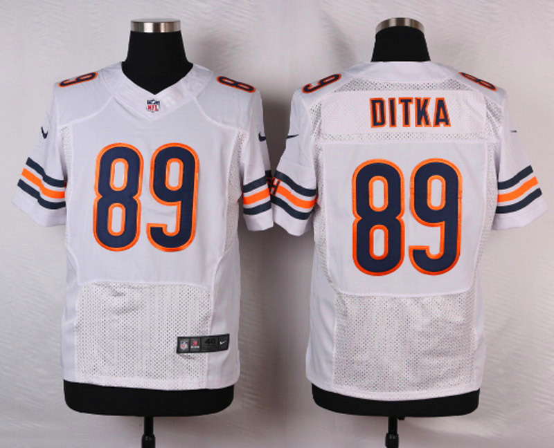NFL Customize Chicago Bears 89 Ditka White 2015 Nike Elite Jersey