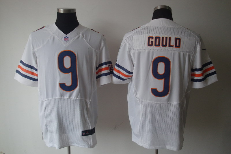 Chicago Bears 9 Gould White Nike Elite Jerseys