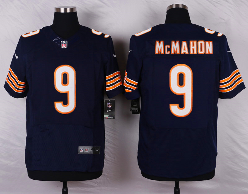 NFL Customize Chicago Bears 9 Mcmahon Blue Men Nike Elite Jerseys