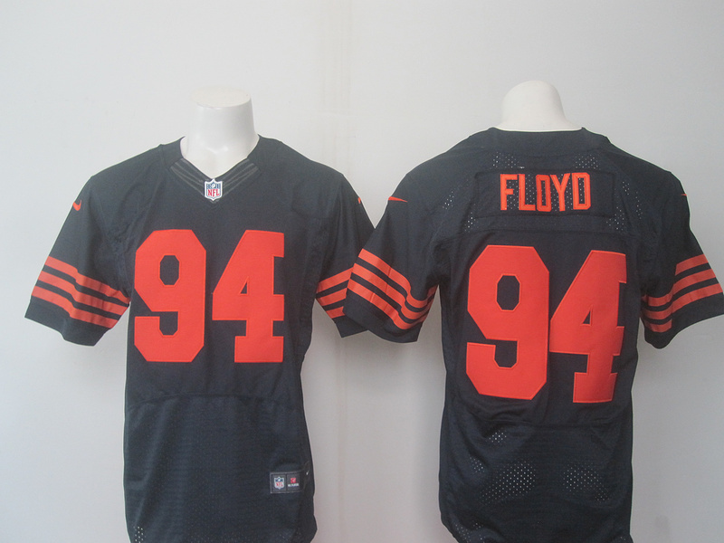 Chicago Bears 94 Floyd Blue Orange 2016 Nike Elite Jerseys