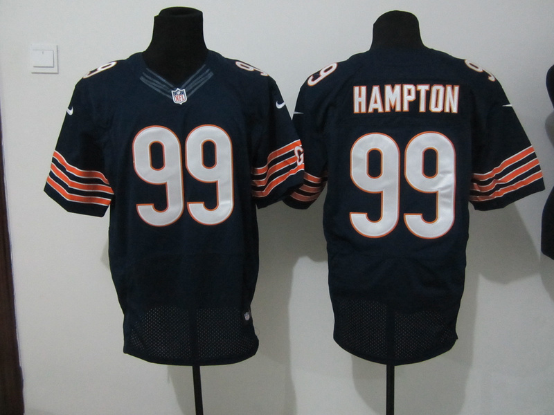 Chicago Bears 99 Hampton Blue Nike Elite Jersey