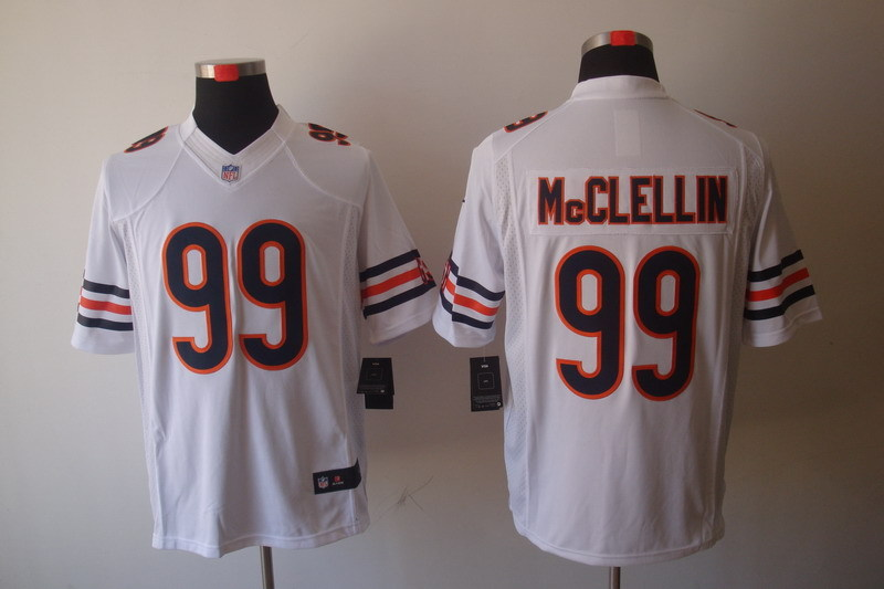 Chicago Bears 99 Mcclellin White Nike Limited Jerseys