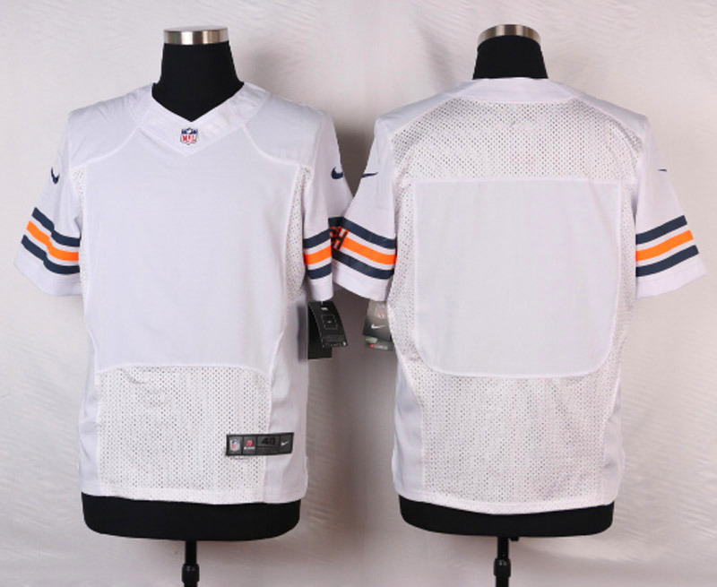 NFL Customize Chicago Bears Blank White 2015 Elite Nike Jerseys