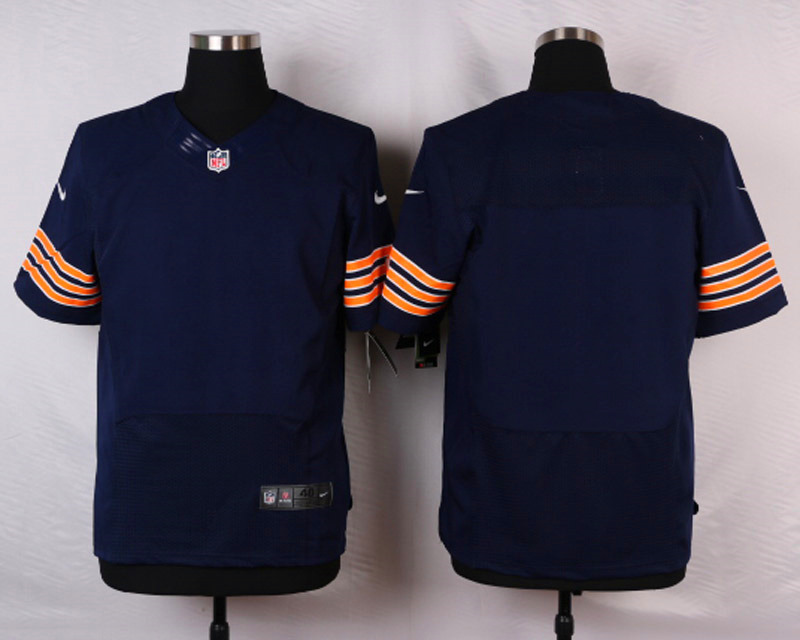 NFL Customize Chicago Bears Blank blue 2015 Elite Nike Jerseys