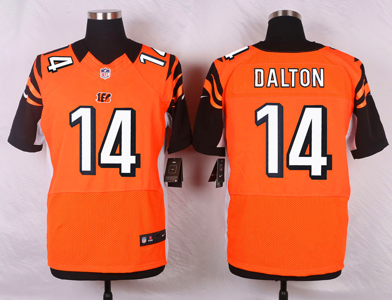 NFL Customize Cincinnati Bengals 14 Dalton Orange 2015 Nike Elite Jersey