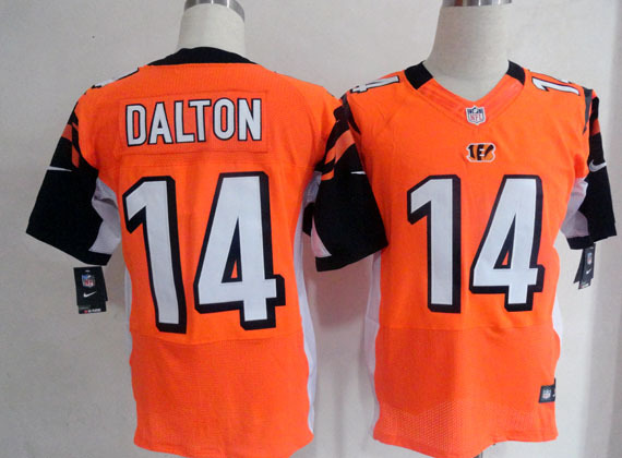 Cincinnati Bengals 14 Dalton Orange Nike Elite Jersey