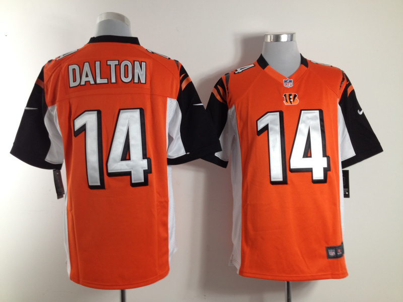 Cincinnati Bengals 14 Dalton Orange Nike Game Jersey