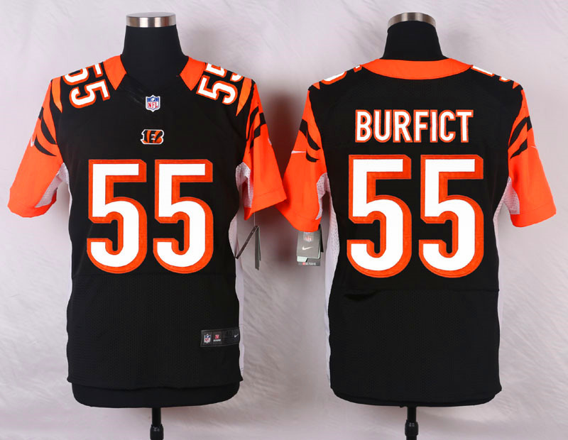 NFL Customize Cincinnati Bengals 55 Burfict Black Men Nike Elite Jerseys