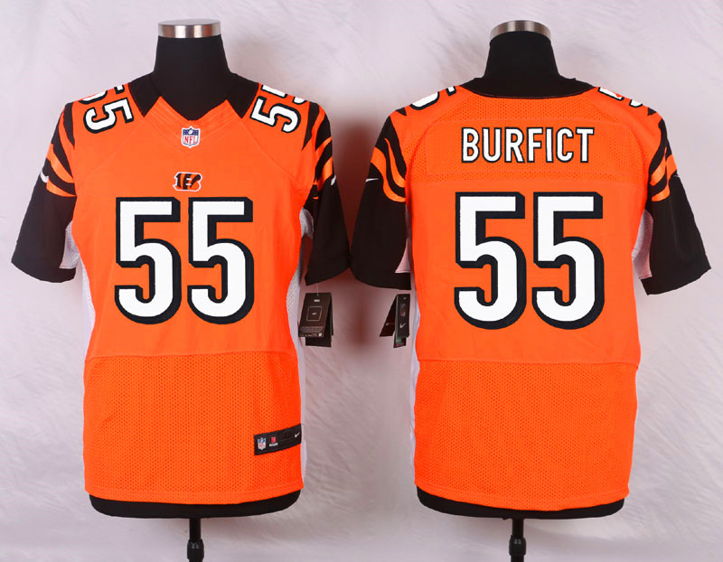 NFL Customize Cincinnati Bengals 55 Burfict Orange Men Nike Elite Jerseys
