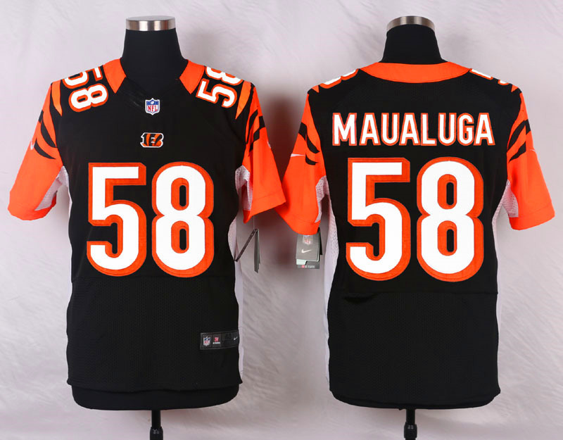 NFL Customize Cincinnati Bengals 58 Maualuga Black Men Nike Elite Jerseys
