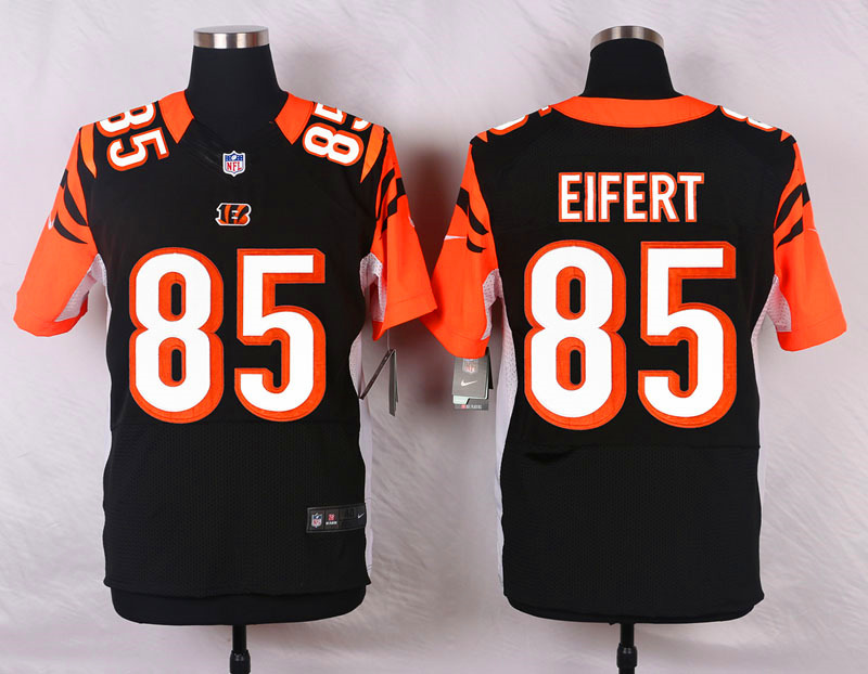 NFL Customize Cincinnati Bengals 85 Eifert Black Men Nike Elite Jerseys