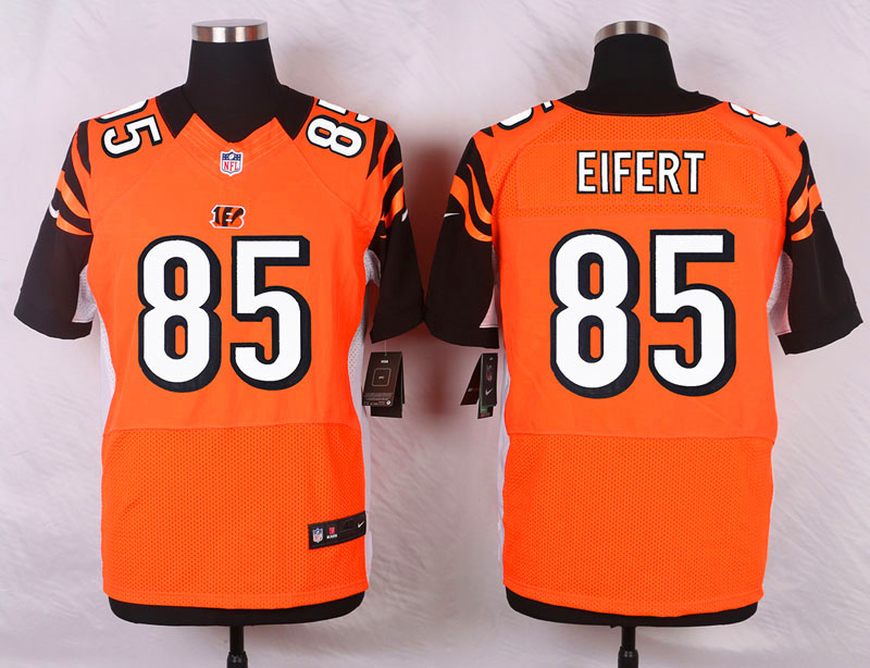 NFL Customize Cincinnati Bengals 85 Eifert Orange Men Nike Elite Jerseys