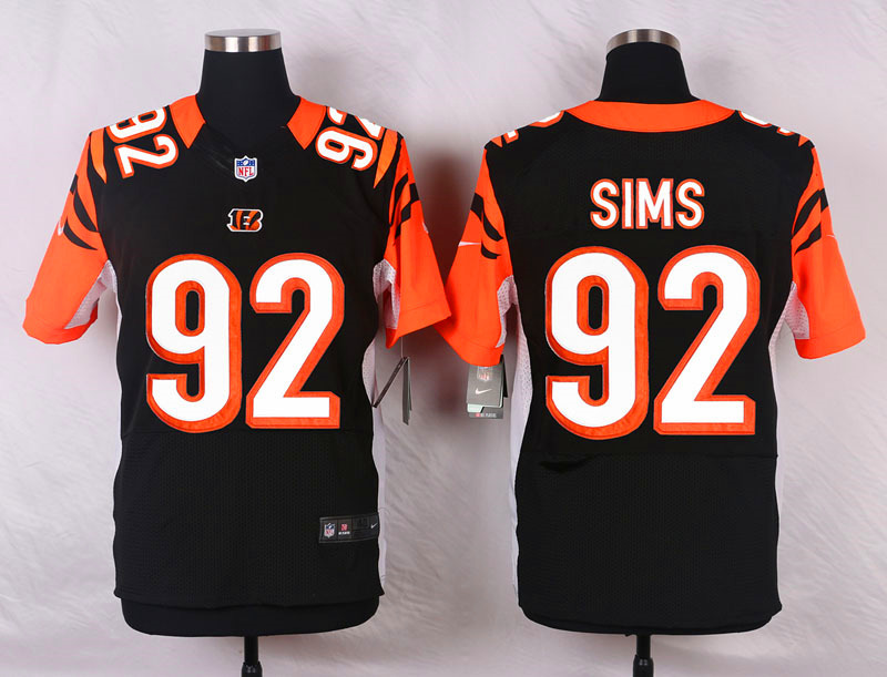 Cincinnati Bengals 92 Sims Black Men Nike Elite Jerseys