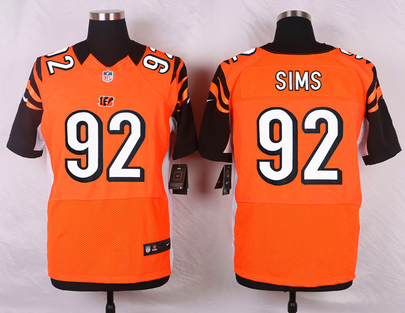 Cincinnati Bengals 92 Sims Orange Men Nike Elite Jerseys