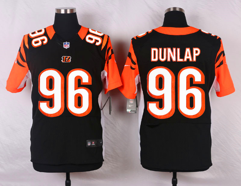 NFL Customize Cincinnati Bengals 96 Dunlap Black Men Nike Elite Jerseys