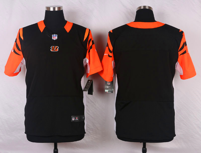 NFL Customize Cincinnati Bengals Blank Black Men Nike Elite Jerseys