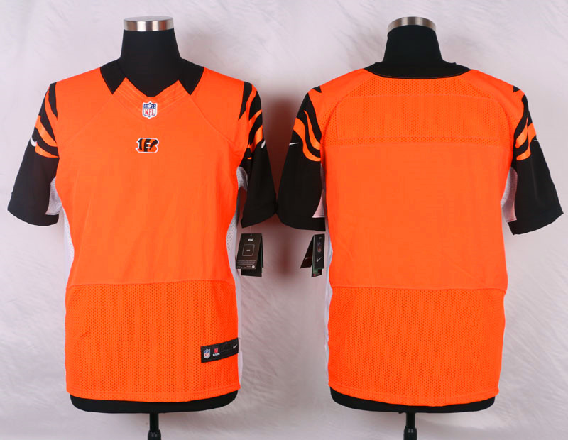NFL Customize Cincinnati Bengals Blank Ornage Men Nike Elite Jerseys