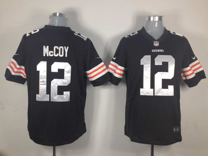 Cleveland Browns 12 McCoy Brown Nike Game Jersey
