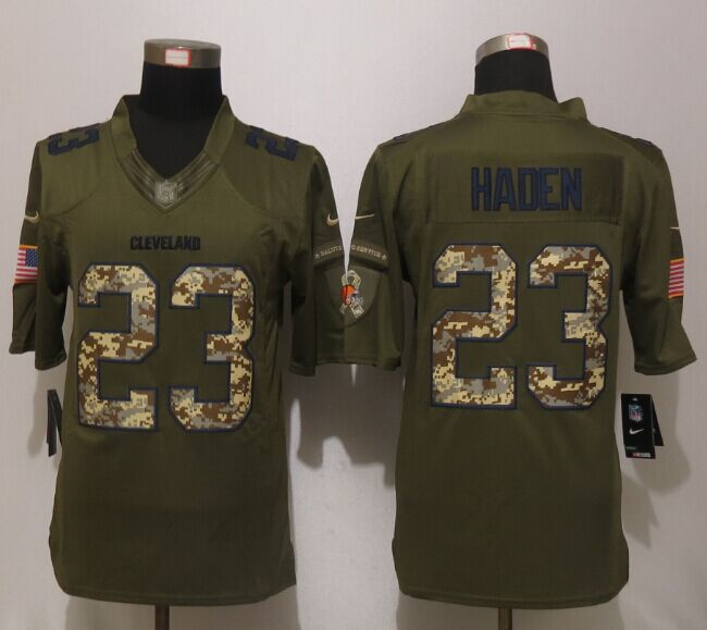 Cleveland Browns 23 Haden Green Salute To Service New Nike Limited Jersey