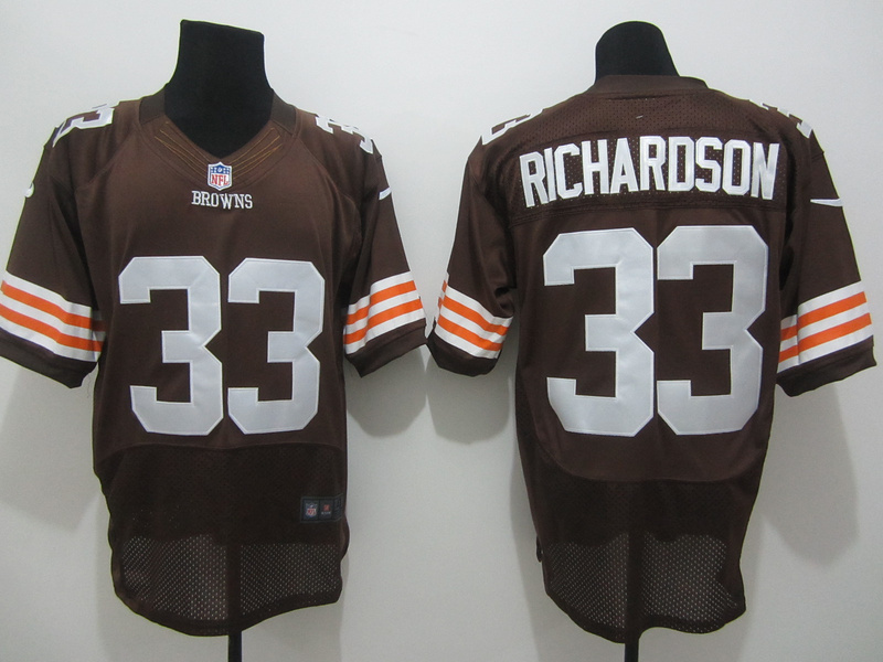 Cleveland Browns 33 Richardson Brown Nike Elite Jersey
