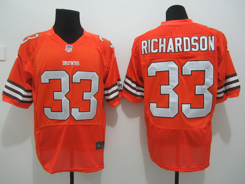 Cleveland Browns 33 Richardson Orange Nike Elite Jersey