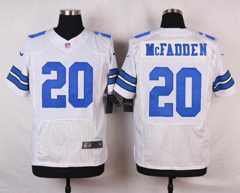 NFL Customize Dallas Cowboys 20 Mcfadden White Men Nike Elite Jerseys