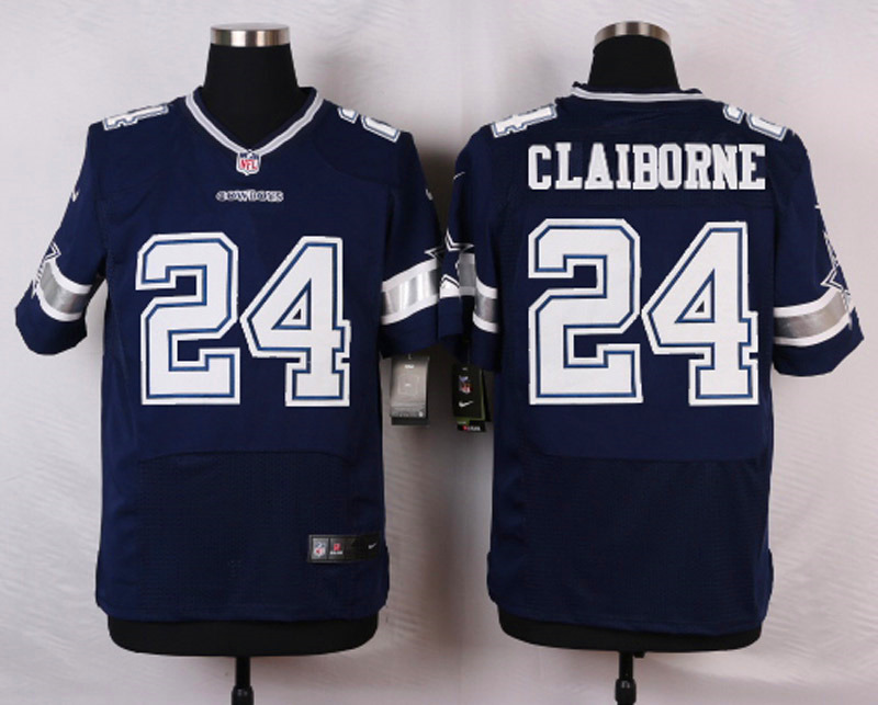 NFL Customize Dallas Cowboys 24 Claiborne Blue 2015 Nike Elite Jersey