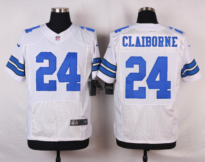 NFL Customize Dallas Cowboys 24 Claiborne White 2015 Nike Elite Jersey
