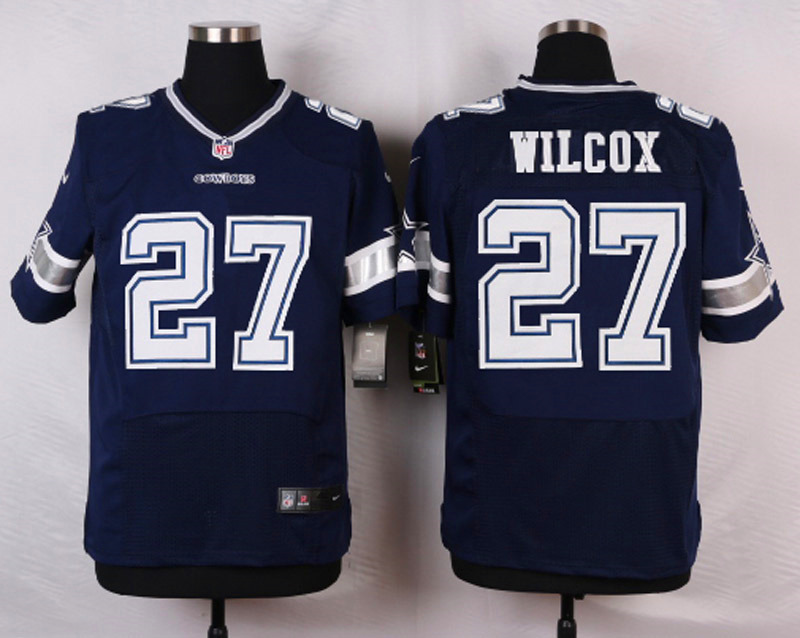 NFL Customize Dallas Cowboys 27 Wilcox Blue Men Nike Elite Jerseys
