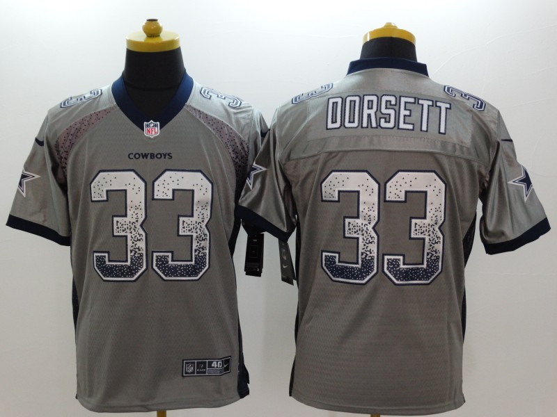 Dallas Cowboys 33 Dorsett Drift Fashion Grey Nike Elite Jerseys