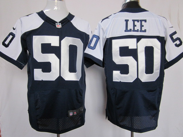 Dallas Cowboys 50 Lee Blue Thankgivings Nike Elite Jersey