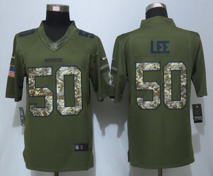 Dallas Cowboys 50 Lee Green New Nike Salute To Service Limited Jersey
