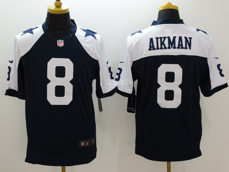 Dallas Cowboys 8 Aikman Blue Thanksgiving 2015 Nike Limited Jersey