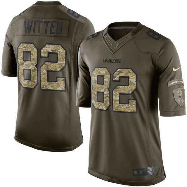 Dallas Cowboys 82 Witten Army green 2015 Nike Salute To Service