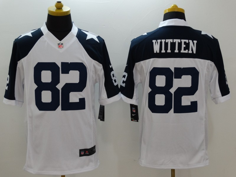 Dallas Cowboys 82 Witten White Thanksgiving 2015 Nike Limited Jersey