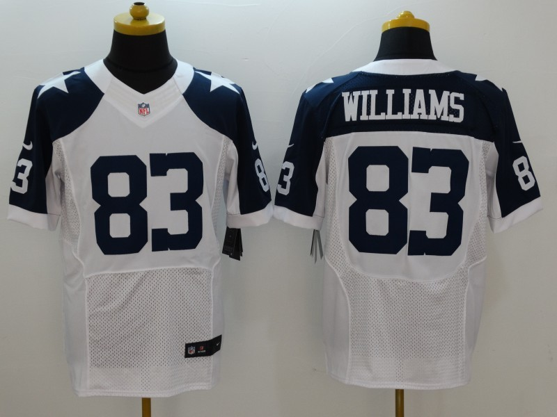 Dallas Cowboys 83 Williams White Thanksgiving Men Nike Elite Jerseys