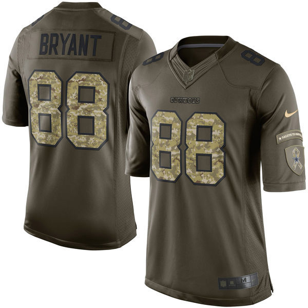 Dallas Cowboys 88 Bryant Army green 2015 Nike Salute To Service