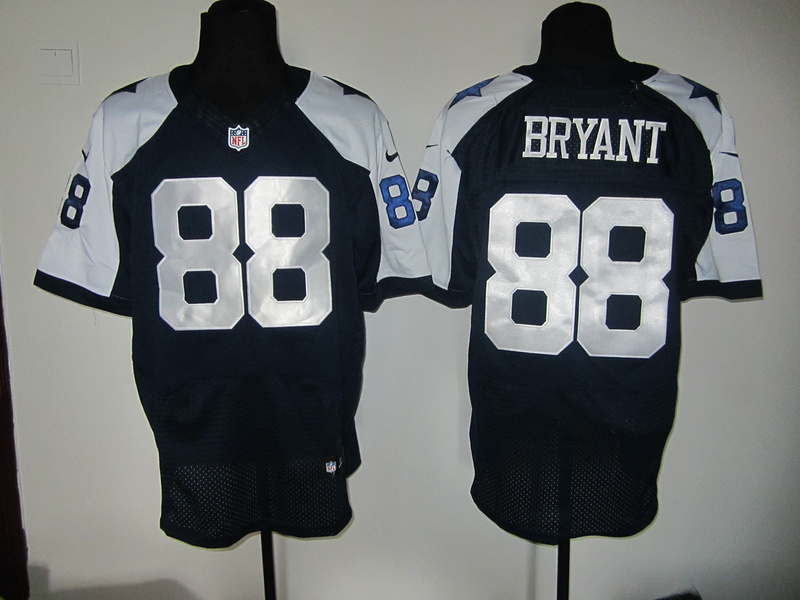 Dallas Cowboys 88 Bryant Blue Thankgivings Nike Elite Jersey