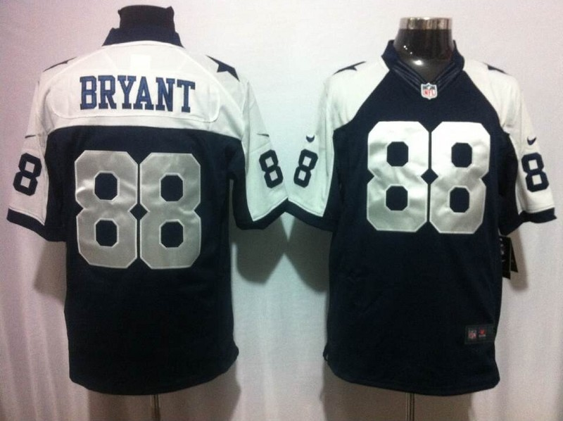 Dallas Cowboys 88 Bryant Blue Thankgivings Nike Game Jersey