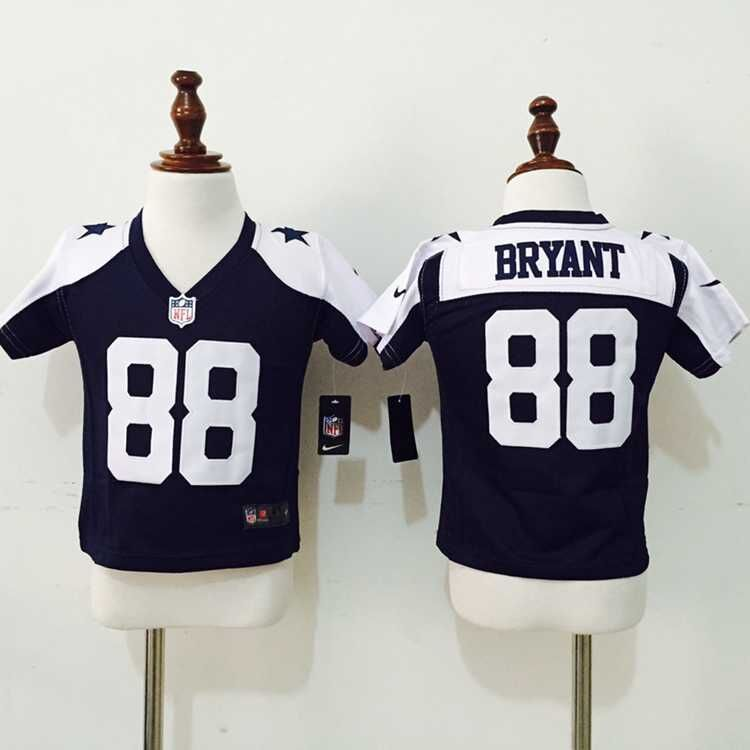 Dallas Cowboys 88 Bryant Blue Thankgivings Nike baby Jersey