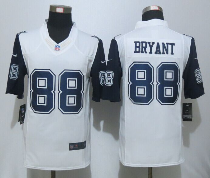 Dallas Cowboys 88 Bryant White New Nike Stitched Limited Rush Jerseya