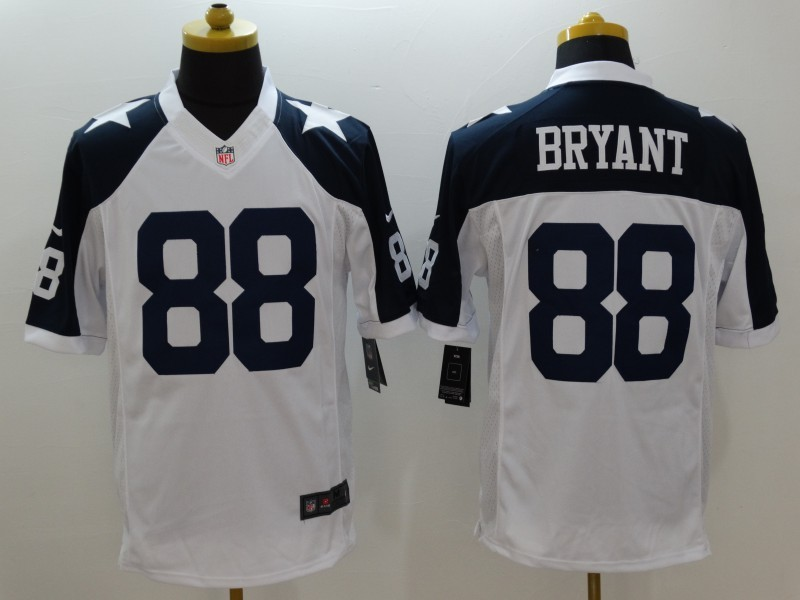 Dallas Cowboys 88 Bryant White Thanksgiving 2015 Nike Limited Jersey
