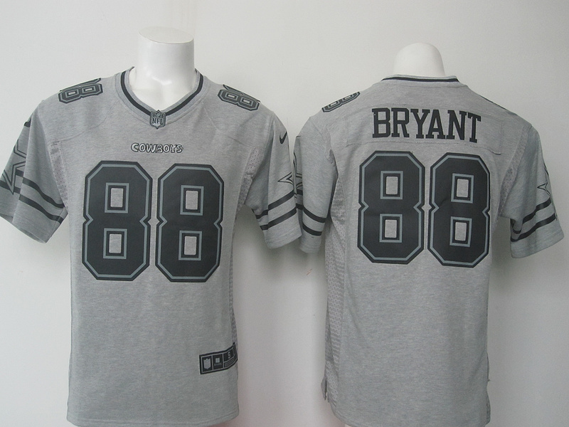 Dallas Cowboys 88 Dez Bryant Gray Gridiron Gray Nike Limited Jersey